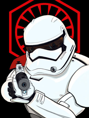 Star Wars First Order Storm Trooper Art Print