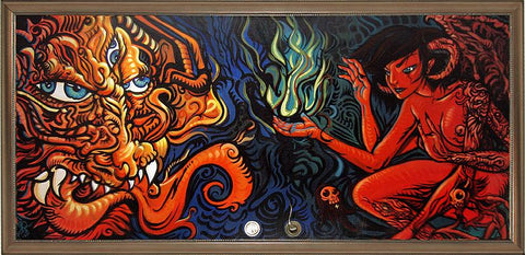 Demon and Succubus Fine Art Painting
