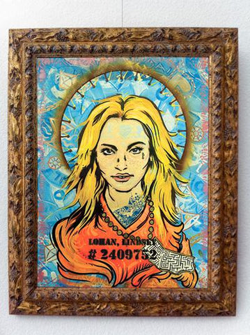 Lindsey Lohan meltdown fine art painting