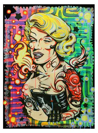 Marylin Monroe meltdown fine art painting