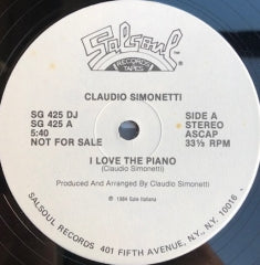 Claudio Simonetti - I Love The Piano [Salsoul Records]