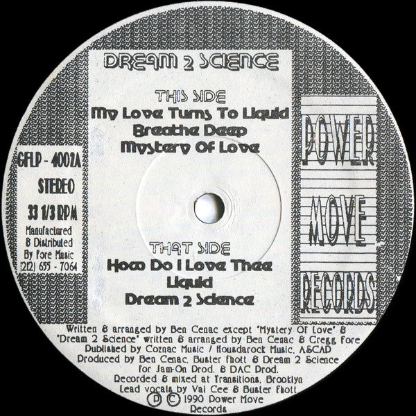 Dream 2 Science - Dream 2 Science LP [Power Move Records]