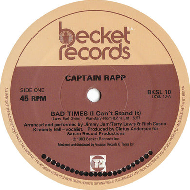 Captain Rapp - Bad Times (I Can't Stand It) [Becket Records]