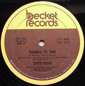 Sinnamon - Thanks To You [Becket Records]