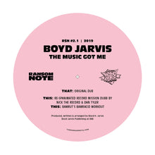 Load image into Gallery viewer, Boyd Jarvis - The Music Got Me (Repress) [R$N]