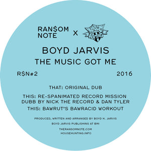 Boyd Jarvis - The Music Got Me [R$N]