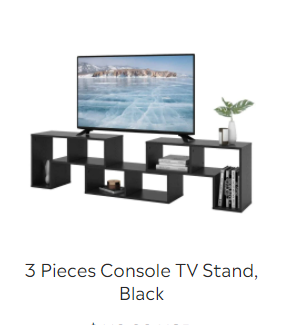 3 Pieces Console TV Stand