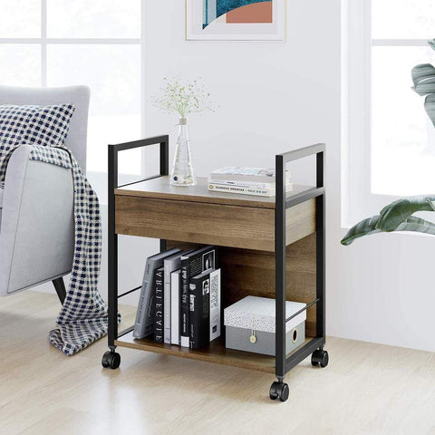Mobile Printer Stand with Storage Drawer