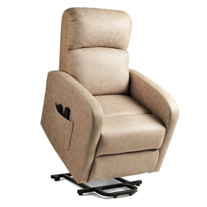 DEVAISE Power Lift Massage Recliner Chair, Light Almond