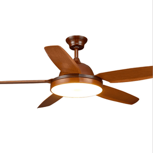 Ceiling Fan with LED Lights and Remote Kit, 42inches, Walnut - Devaise