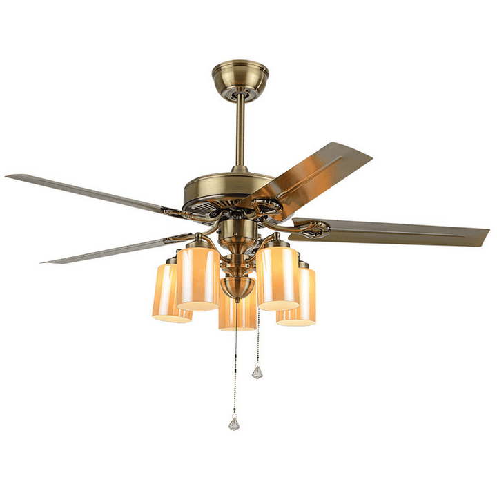 Ceiling fan with Light Kit, 52inches - Devaise