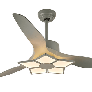 "Ceiling Fan with LED Lights, 52""inches, Green - Devaise"