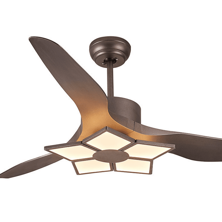 Ceiling Fan with LED Lights, Brown, 52inches