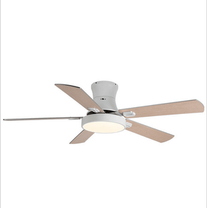 Ceiling Fan with LED Light and Remote Kit, 52inches, White - Devaise