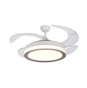 Ceiling Fan with LED Light and Remote Kit, White, 42inches - Devaise