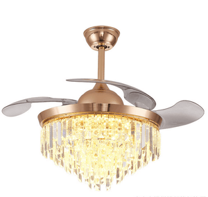 Ceiling Fan with LED Light and Remote Kit, 42inches, Gold - Devaise