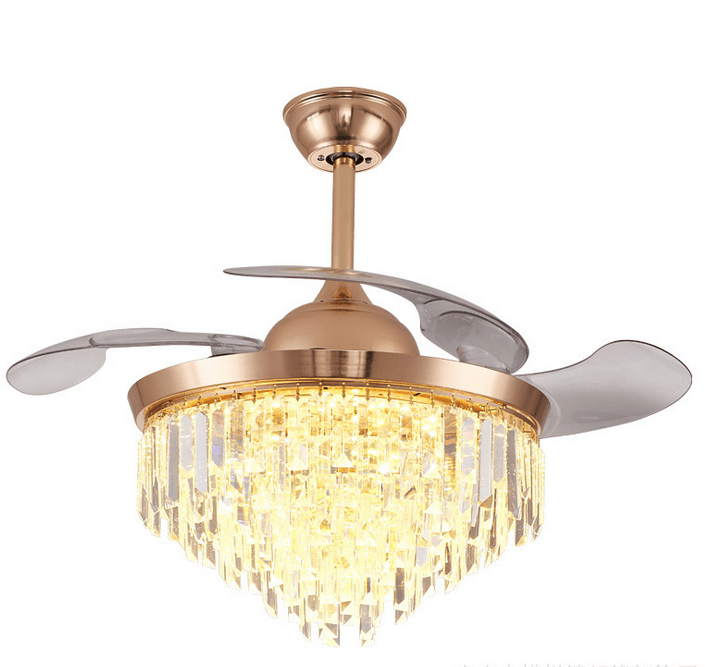 Ceiling Fan with LED Light and Remote Kit, 42inches, Gold