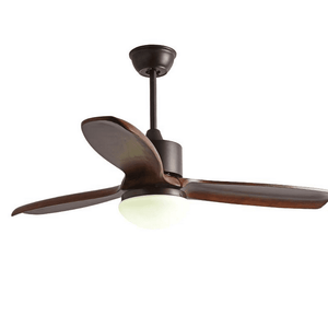Ceiling Fan with LED Light and Remote Kit, 42inches, Brown - Devaise