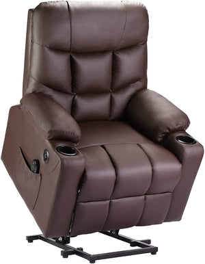 DEVAISE Power Lift Massage Recliner Chair, Dark Brown