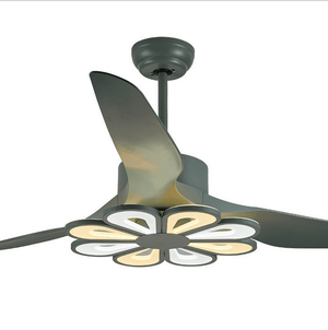 Ceiling Fan with LED Light, 52inches, Green - Devaise