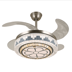 Ceiling Fan with LED Light, White, 42inches - Devaise