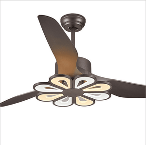 Ceiling Fan with LED Light, 52inches, Black - Devaise
