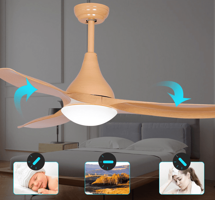 Ceiling Fan with LED Light and Remote Kit, 48inches, Brown