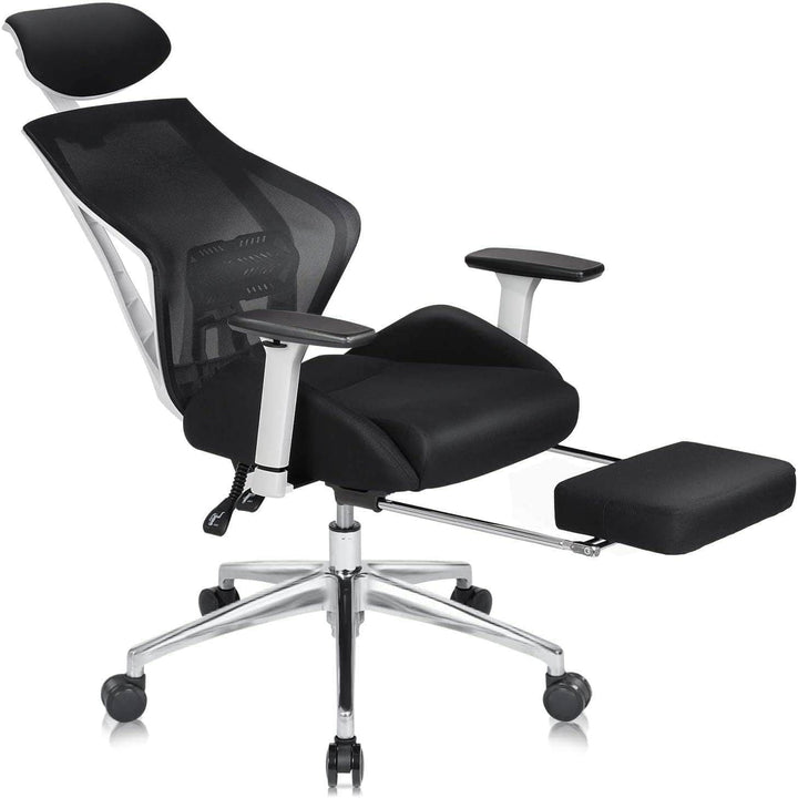 Ergonomics Recliner Office Chair, White