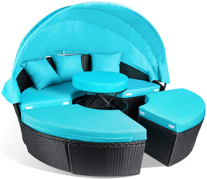 Patio Furniture Outdoor Daybed, Turquoise