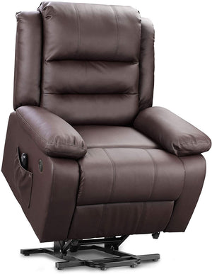 Dual-Motor Power Lift Recliner Chair, Dark Brown - Devaise