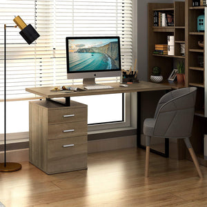 Office Desk with Reversible File Cabinet - Devaise
