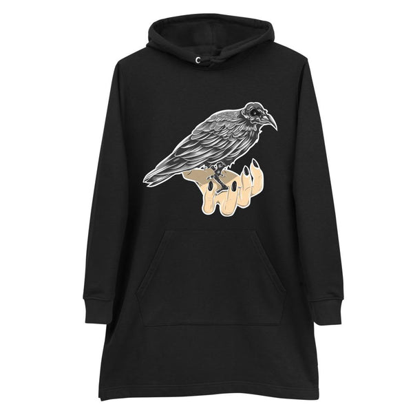 Magic Raven Hoodie dress - Landsyne