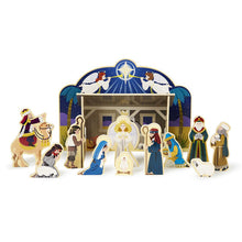 Load image into Gallery viewer, Wooden Nativity Set