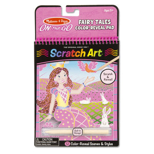 Scratch Art - Fairy Tales Color-Reveal Pad - ON the GO Travel Activity