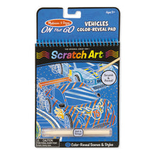 Load image into Gallery viewer, Scratch Art - Vehicles Color-Reveal Pad - ON the GO Travel Activity