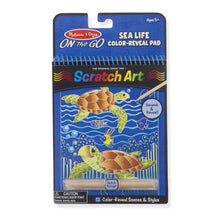 Load image into Gallery viewer, Scratch Art - Sea Life Color-Reveal Pad - ON the GO Travel Activity