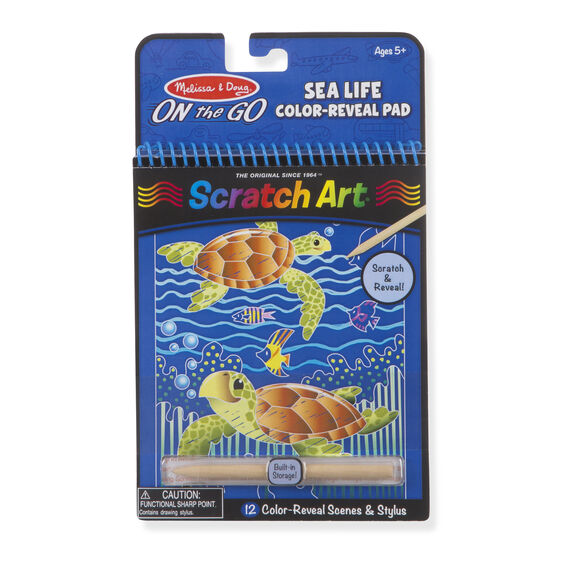 Scratch Art - Sea Life Color-Reveal Pad - ON the GO Travel Activity