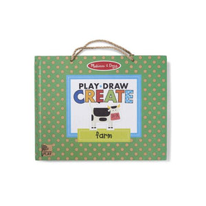 Natural Play: Play, Draw, Create Reusable Drawing & Magnet Kit - Farm Fun