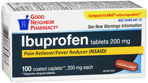 Good Neighbor Pharmacy Ibuprofen Coated Tablets 200mg 100ct