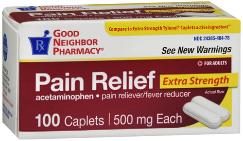 Good Neighbor Pharmacy Pain Relief Acetaminophen 500mg Caplets 100ct
