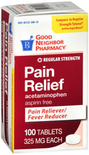 Load image into Gallery viewer, Good Neighbor Pharmacy Pain Relief Acetaminophen 325mg Tablets 100ct