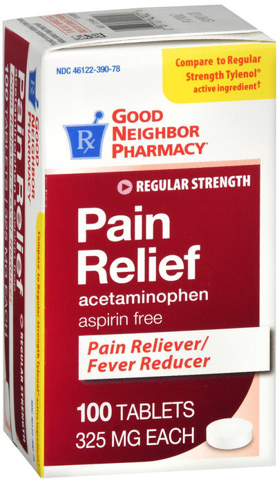 Good Neighbor Pharmacy Pain Relief Acetaminophen 325mg Tablets 100ct