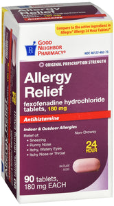 Good Neighbor Pharmacy Fexofenadine 180mg (Generic Allegra) 90ct