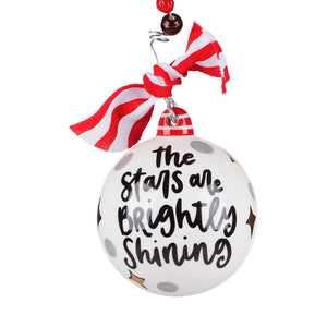 Stars Brightly Shining Nativity Ball Ornament