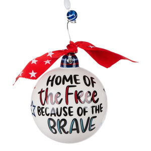Home of the Free Ball Ornament
