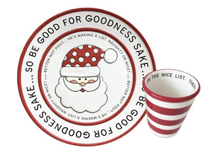 Santa Cookies & Milk Set