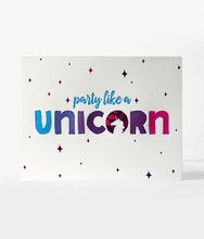 "Load image into Gallery viewer, Elum ""Party Like a Unicorn"" Birthday Card"