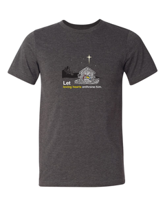 Holy Night - Christ's Nativity Grey T-Shirt