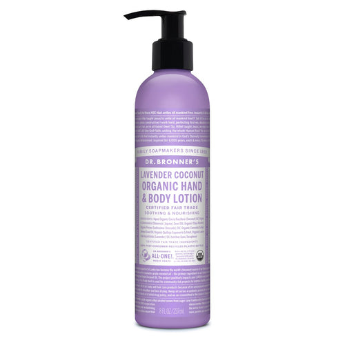 Organic Hand & Body Lotion Lavender Coconut 8oz