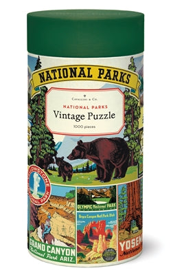 Vintage Puzzle - National Parks (1,000 pieces)